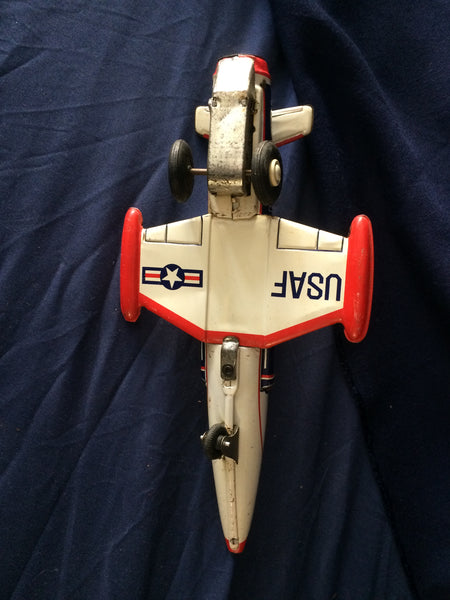 1960s Tin Toy Jet Fighter USAF 370