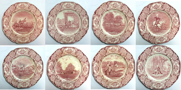 George Washington Memorial Plates by Crown Ducal 1932 (Set of 8)