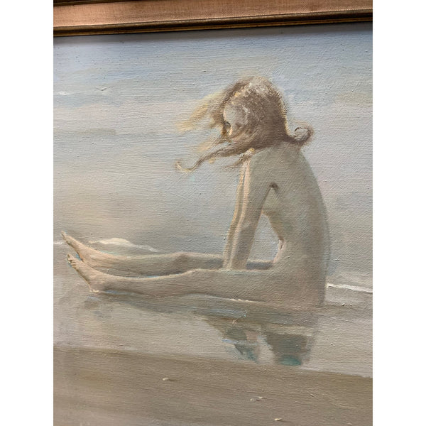 Mid 20th Century Figurative Seascape Oil Painting