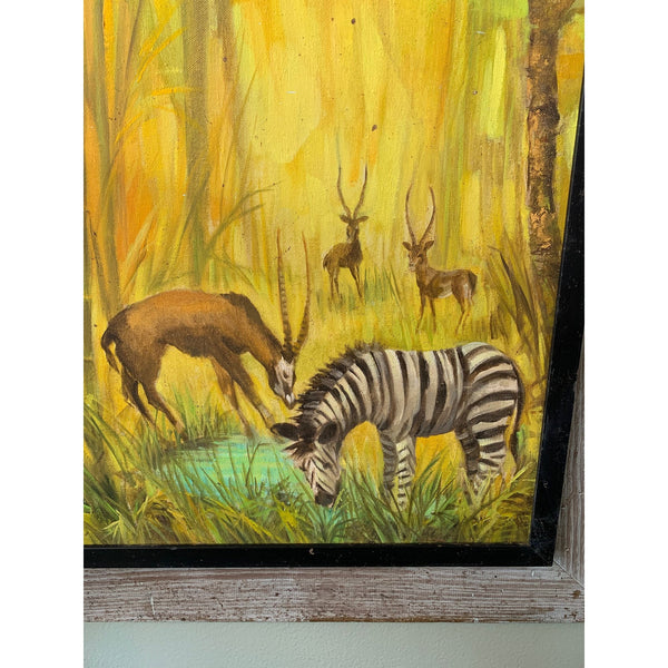 Savannah Animal Portrait Paintings - A Pair