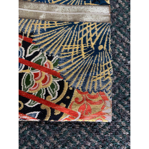 Vintage Gold & Silver Embroidery Japanese Obi