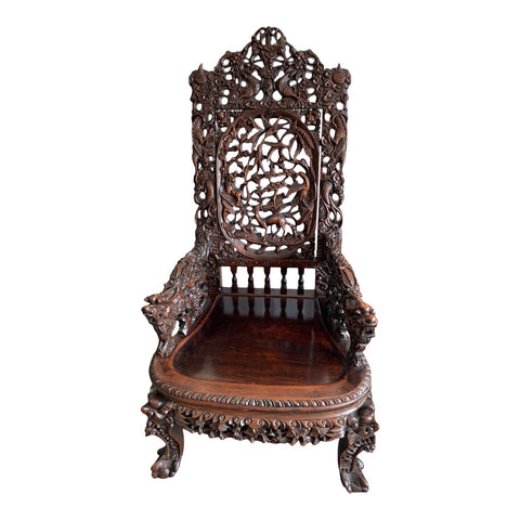 Ornately Carved Chinese Chair