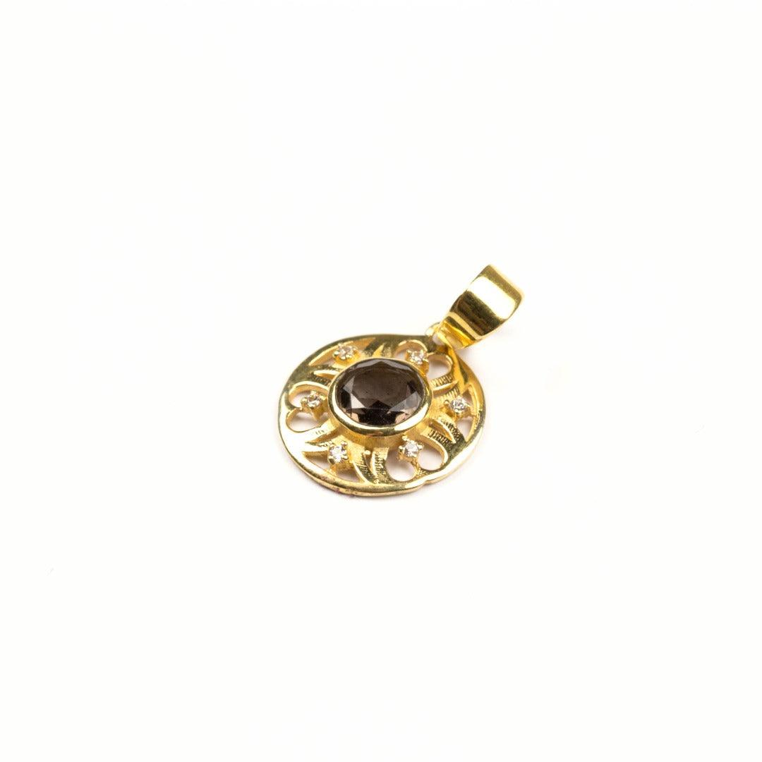 Cintamani Faceted 9 Carat Gold Pendant ~ ( 424621)
