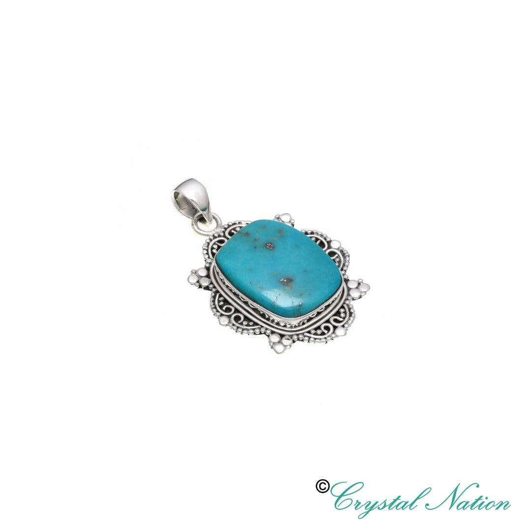 Turquoise Sterling Silver Pendant Sleeping Beauty Mine  ( 21164 )