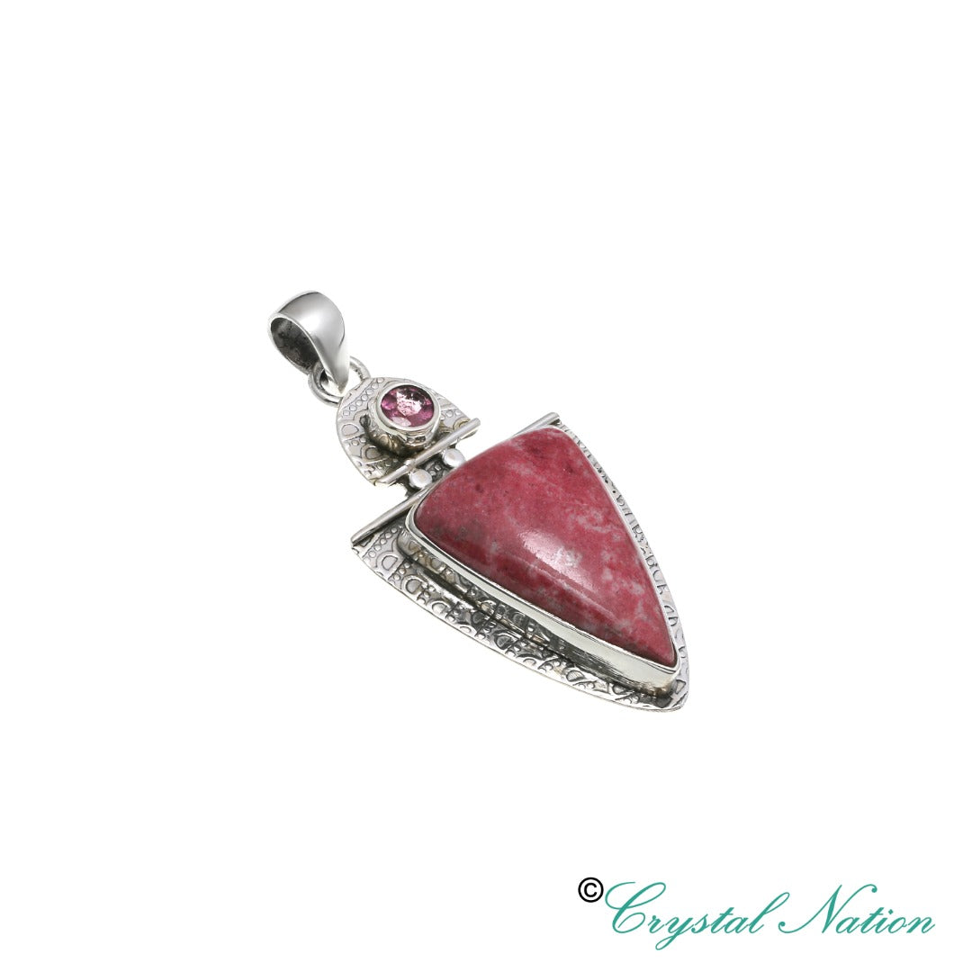 Thulite Sterling Silver Pendant   ( 20352)
