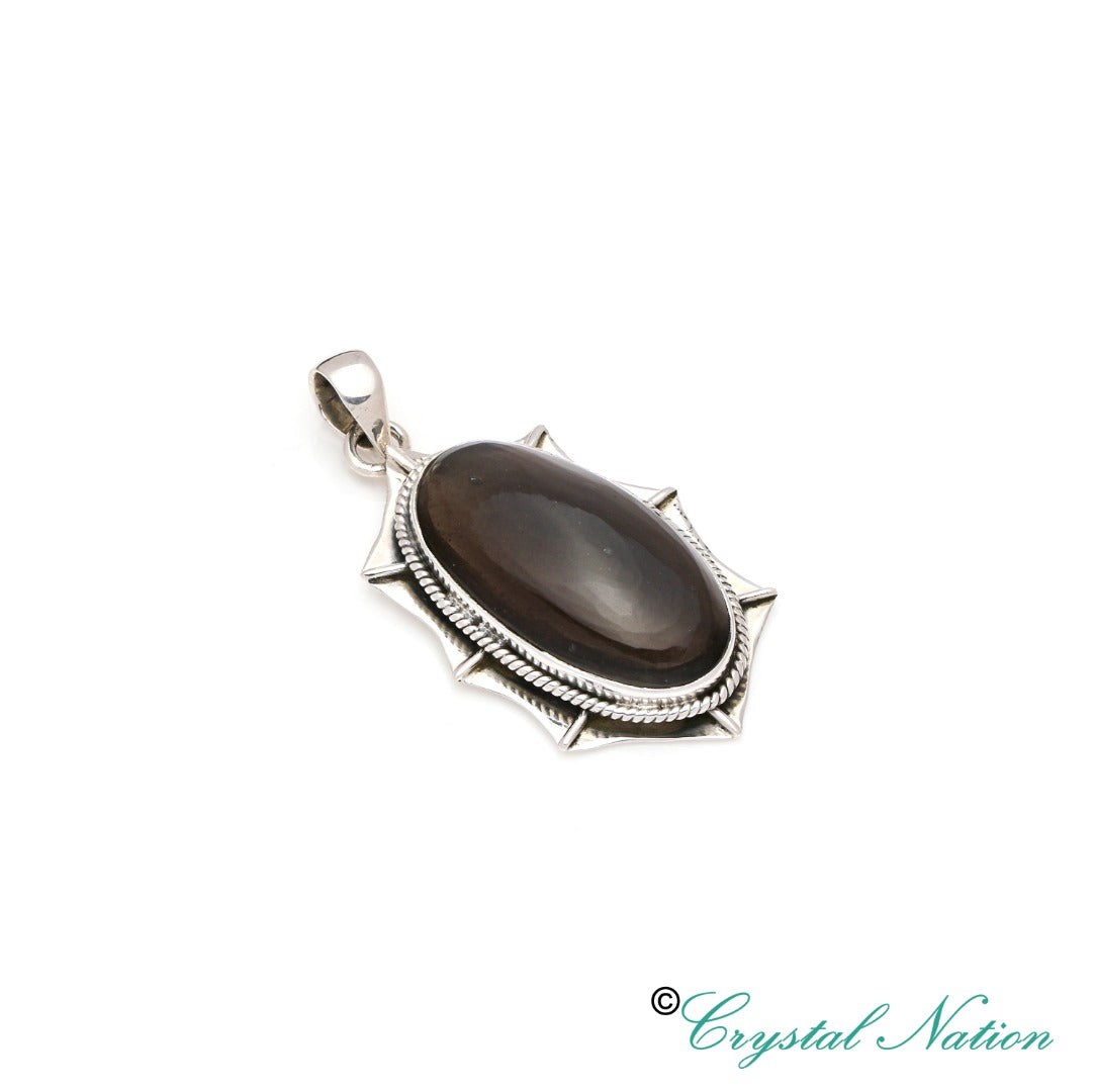 Cintamani Faceted Sterling Silver Pendant ( 20482 )