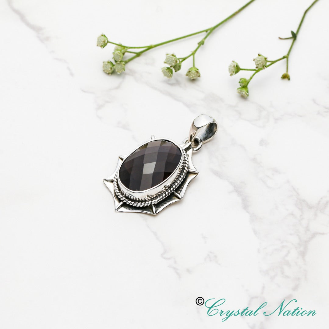 Cintamani Faceted Sterling Silver Pendant ( 20501 )