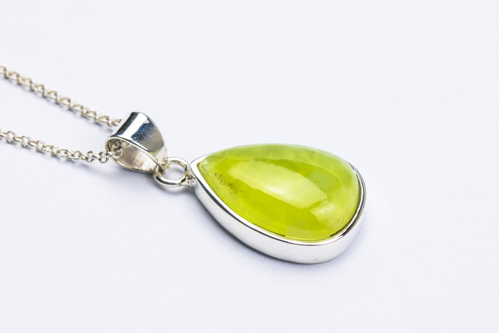 Prehnite Sterling Silver Pendant~Unconditional Love ( 85623)