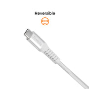 Freedy USB-C to C Charging & Sync cable, 60W max., 39 in. - White
