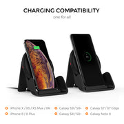 Freedy 10W Qi Certified Wireless Charger Pad Expansion Pack Designed for Qi-Enabled Phones - [Qi-Certified & Fast] - Black