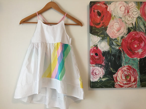 Rainbow hi lo Dress