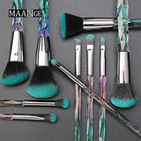 Makeup Brushes Crystal Handle Set