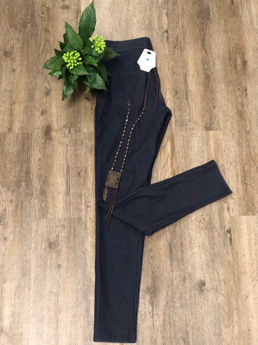 basic jegging long navy