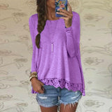 New 2016 Zanzea Fashion T Shirt Women Long Sleeve O-Neck Casual Tops Sexy Lace Crochet Embroidery Top Tees Blusas Plus Size 5XL