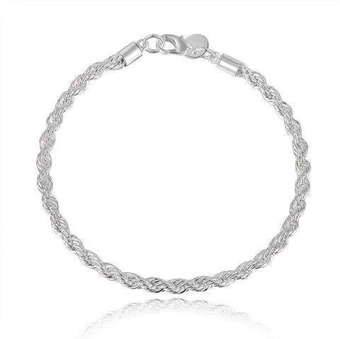2016 New Fashion silver plated Snake chain bracelets for women charm bracelet twisted Link bracelets bangles free shippin