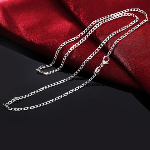 Fashion Women Girl Infinity Created Red Zirconia Bracelet Jewelry Gift Side chain 2MM One to one Side chain #30
