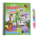 Magic Water Drawing Book Coloring Book Doodle with Magic Pen Painting Board Juguetes For Children Education Drawing Toy