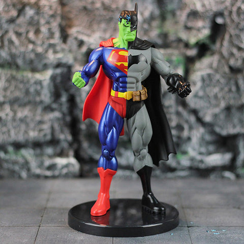DC Super Hero Superman X Batman PVC Action Figure Collectible Model Toy 18cm KT3716