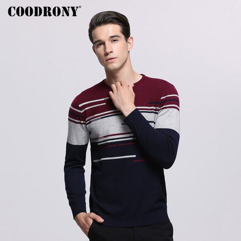 COODRONY Sweater Men Brand Clothing Mens Sweaters For 2018 Autumn Winter Casual O-Neck Pull Homme Cashmere Wool Pullover Men 229