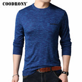 COODRONY Cashmere Wool Sweater Men Casual O-Neck Pullover Men Clothes 2018 Autumn Winter Mens Sweaters Plus Size Pull Homme 8146