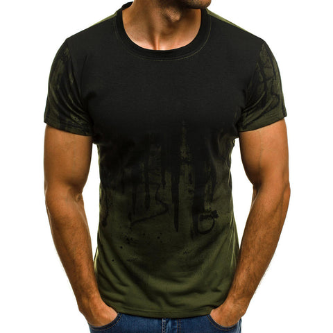 Men Tee Slim Fit Hooded Short Sleeve Muscle  Casual Tops Blouse Shirts