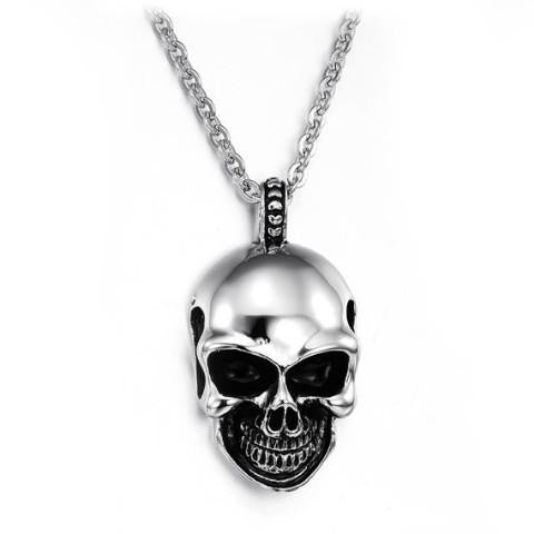 Gravity Stainless Steel Skull Pendant