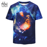 HanHent 3D Space T-shirts Men Round Neck Short Sleeve Tee shirts European Size Fashion Streetwear Printing 3d  T shirts Male