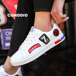 High quality Sneakers Women Brand fashion Flat Casual shoes woman leather leisure shoes tenis feminino Lovers shoes size 35-44