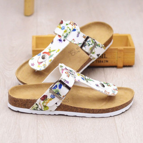 Summer Style Fashion Cork Lovers Slippers Man Woman Beach Slippers Casual Sandals Flats Male Shoes Women
