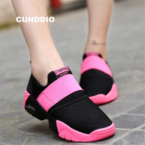 High quality Women sneakers fashion Flat Casual shoes Unisex Air damping woman mesh leisure shoes tenis feminino size 35-44