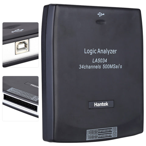 Hantek LA5034 34CH 500MHz USB PC Digital Virtual Logic Analyzer CAN I2C SPI RS232