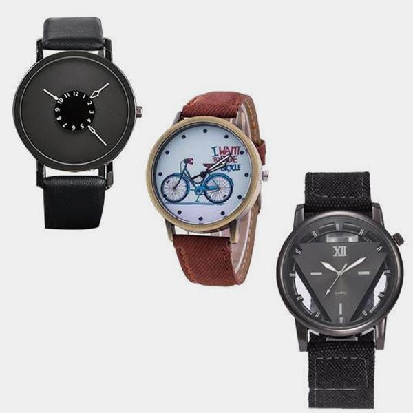 R-LEEFER BRANDED WATCH-PACK OF 3  -  1 Year  Warranty