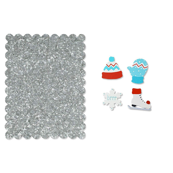 Galvanized Metal Photo Board Home and Office Decor Includes Winter Magnet Set, by Roeda Studio