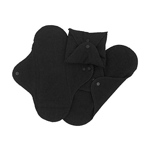 Imse Vimse Reusable Organic Cotton Menstrual Pads with Wings, 3 Pack (Regular, Garden)