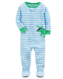 Carter's Baby Boys' 2T-5T One Piece Snug Fit Cotton Pajamas (3T, Blue/Alligator)
