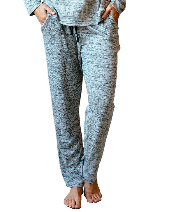 Hello Mello Carefree Threads Womens Loungewear Pants With Pockets and Adjustable Elastic Waistband, Matching Drawstring Bag