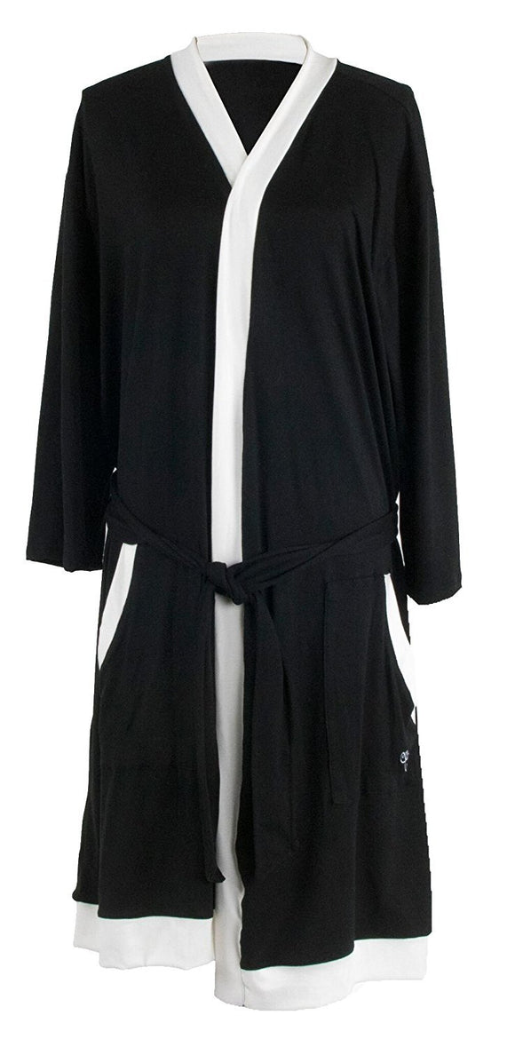 Hello Mello Luxurious Soft Lounge Robe With Matching Drawstring Tote Bag