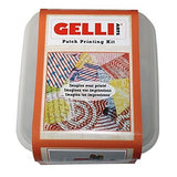 Gelli Arts Quilt Squares All in One DIY Craft Set with Gel Printing Plate, Premium Acrylic Paint, Roller, Fabric, Design Elements, Storage Container- Art Reflects Beauty of Quilt, Easy Clean Up