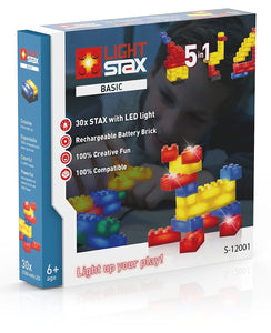 Light Stax Illuminated Building Blocks - 30-Piece Basic Set
