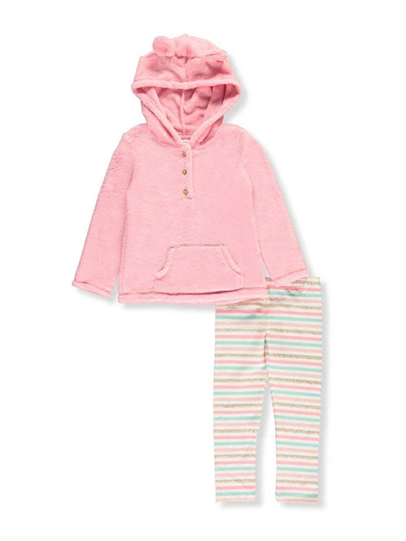 Carter's Girls' 3M-8 Faux Sherpa Hoodie and Leggings Set