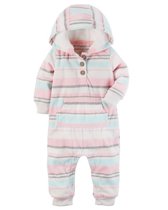 Carter's Baby Girls' One Piece Fairisle Fleece Jumpsuit