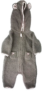 Carter's Baby Girls' Hooded Fair Isle Jumpsuit