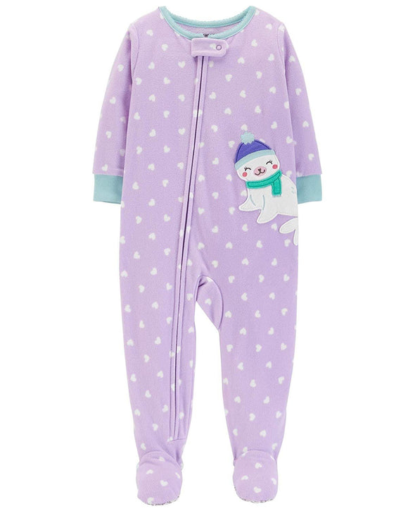 Carter's Baby Girls' 1 Piece Fleece Sleepwear
