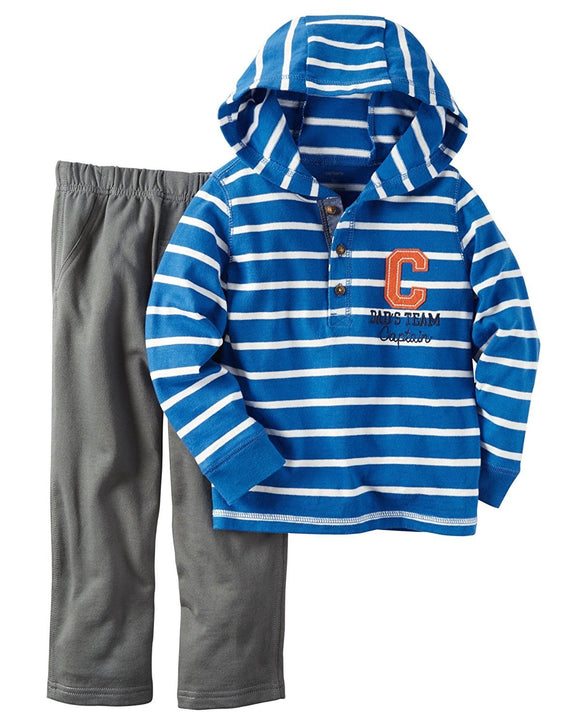 Carter's Baby Boys' 2 Piece Plaid Woven Top and Pants Set