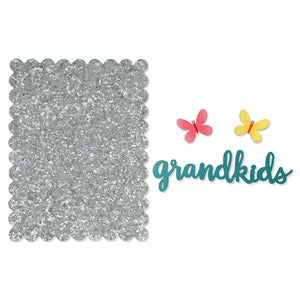 Grandkids and Butterflies Magnet Set with Metal Easel Board for Home or Office by Roeda Studio