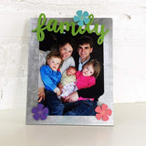 Family Magnet Set with Metal Easel Board for Home or Office by Roeda Studio