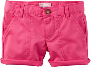 Carter's Girls' 2T-8 Roll Cuffed Shorts