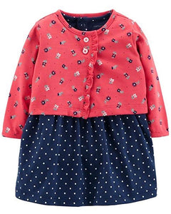 Carter's Baby Girls' 2-Piece Bodysuit Dress & Cardigan Set