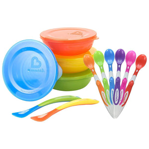 Munchkin 6-Pack Soft-Tip Infant Spoons with Multi Bowl Set