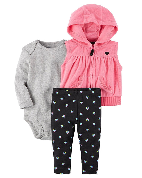 Carter's Baby Girls' 3 Pc Sets 127g235